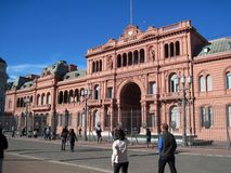 Μπροστινό κυβερνητικό σπίτι Casa Rosada της Αργεντινής Μπουένος Άιρες Στοκ Εικόνες