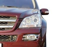 μπροστινό κόκκινο πολυτέλειας αυτοκινήτων Στοκ φωτογραφία με δικαίωμα ελεύθερης χρήσης