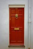 μπροστινό κόκκινο πορτών Στοκ Φωτογραφίες