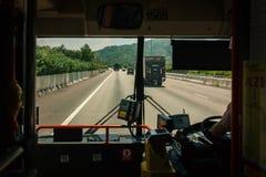 μπροστινό οδικό παράθυρο &delt στοκ φωτογραφίες
