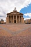 μπροστινό συννεφιάζω pantheon Παρίσι Στοκ Εικόνες