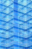 Μπροστινό σχέδιο του σύγχρονου κτηρίου Στοκ Εικόνα
