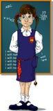 μπροστινό σχολείο κοριτσιών πινάκων Στοκ φωτογραφία με δικαίωμα ελεύθερης χρήσης