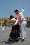 μπροστινό marinera χορευτών γ Στοκ εικόνες με δικαίωμα ελεύθερης χρήσης
