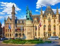 Μπρυζ Βέλγιο Κεντρική αγορά τετραγωνικό Grote Markt στοκ εικόνες
