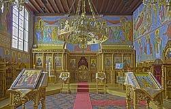 ΜΠΡΥΖ, ΒΕΛΓΙΟ - 13 ΙΟΥΝΊΟΥ 2014: Εσωτερικός του ST Constanstine και της Ορθόδοξης Εκκλησίας της Helena Στοκ Εικόνες