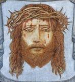ΜΠΡΥΖ, ΒΕΛΓΙΟ - 13 ΙΟΥΝΊΟΥ 2014: Ο προϊστάμενος του βασανισμένου Ιησούς Χριστού από τον άγνωστο ζωγράφο στην εκκλησία του ST Gile Στοκ Φωτογραφία