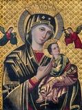 ΜΠΡΥΖ, ΒΕΛΓΙΟ - 13 ΙΟΥΝΊΟΥ 2014: Το εικονίδιο Madonna στην εκκλησία του ST Giles Στοκ φωτογραφία με δικαίωμα ελεύθερης χρήσης