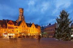 Μπρυζ στα Χριστούγεννα στοκ εικόνα