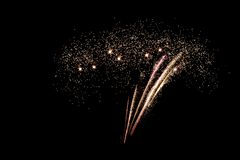 Μπόλτον, Αγγλία, UK, στις 2 Νοεμβρίου 2018 μια άλλη επιτυχία σπινθηρίσματος αστεριών για την ετήσια μεγάλη νύχτα πυροτεχνημάτων τ στοκ εικόνα με δικαίωμα ελεύθερης χρήσης