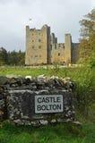 Μπόλτον Castle σε Wensleydale Γιορκσάιρ στοκ εικόνες