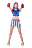 Μπόξερ γυναικών στοκ φωτογραφία με δικαίωμα ελεύθερης χρήσης