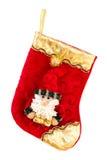 Μπότα κόκκινου Santa που απομονώνεται στο άσπρο υπόβαθρο Στοκ φωτογραφία με δικαίωμα ελεύθερης χρήσης