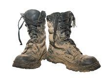 μπότες βρώμικες Στοκ εικόνα με δικαίωμα ελεύθερης χρήσης