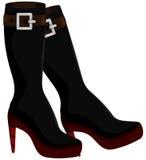 Μπότες γυναικών Στοκ Εικόνες