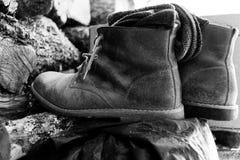 Μπότες εργασίας της Farmer ` s στοκ εικόνες