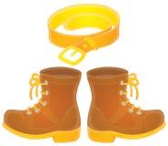 μπότες ζωνών ελεύθερη απεικόνιση δικαιώματος