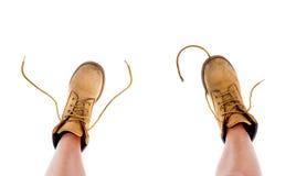 μπότες κίτρινες Στοκ εικόνα με δικαίωμα ελεύθερης χρήσης