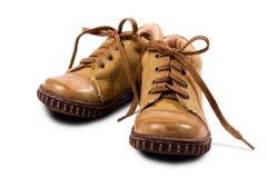 μπότες μωρών κίτρινες Στοκ φωτογραφία με δικαίωμα ελεύθερης χρήσης