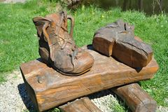 μπότες ξύλινες Στοκ Εικόνες