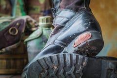 Μπότες που πυροβολούν τη σειρά Στοκ φωτογραφία με δικαίωμα ελεύθερης χρήσης