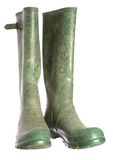 μπότες πράσινος παλαιός Ο&u Στοκ Φωτογραφία