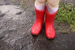 Μπότες στη λάσπη Στοκ Εικόνα