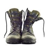 μπότες στρατού παλαιές Στοκ Φωτογραφίες
