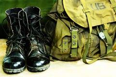 μπότες τσαντών Στοκ Φωτογραφίες