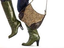 μπότες τσαντών Στοκ φωτογραφία με δικαίωμα ελεύθερης χρήσης