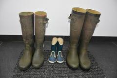 μπότες χρησιμοποιούμενες Στοκ Εικόνες