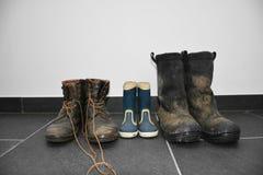 μπότες χρησιμοποιούμενες Στοκ Εικόνα