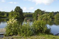 Μπόχουμ (Γερμανία) - ποταμός Ρουρ κάτω από το Castle Blankenstein Στοκ Εικόνες