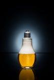 Μπύρα λαμπών φωτός με τις πτώσεις και τον πάγο Στοκ Εικόνα