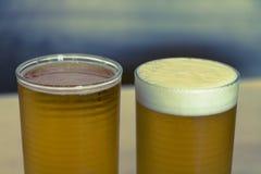 Μπύρα 2 γυαλιά Στοκ Εικόνες