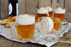 Μπύρα ζελατίνας στο γυαλί Στοκ Φωτογραφία