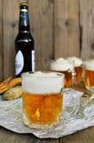 Μπύρα ζελατίνας στο γυαλί Στοκ Εικόνες