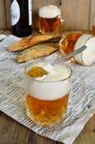 Μπύρα ζελατίνας στο γυαλί Στοκ Φωτογραφίες