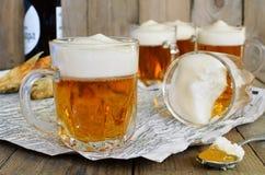 Μπύρα ζελατίνας στο γυαλί Στοκ εικόνα με δικαίωμα ελεύθερης χρήσης