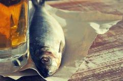 Μπύρα και πρόχειρο φαγητό στην μπύρα Στοκ φωτογραφίες με δικαίωμα ελεύθερης χρήσης