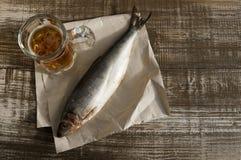 Μπύρα και πρόχειρο φαγητό στην μπύρα Στοκ Φωτογραφίες