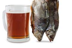 Μπύρα και ψάρια Στοκ Φωτογραφία