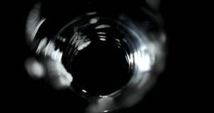 Μπύρα που χύνεται στο γυαλί στο μαύρο κλίμα 4k απόθεμα βίντεο