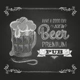 Μπύρα Σχέδιο κιμωλίας Στοκ Εικόνες