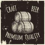 Μπύρα Σχεδιασμός με το χέρι Στοκ φωτογραφία με δικαίωμα ελεύθερης χρήσης