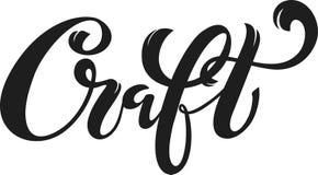 Μπύρα τεχνών Λογότυπο, χειρόγραφη εγγραφή για το εστιατόριο, επιλογές καφέδων σχέδιο των κουπών μπύρας ελεύθερη απεικόνιση δικαιώματος