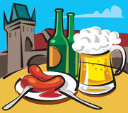 μπύρα τσέχικα Στοκ φωτογραφία με δικαίωμα ελεύθερης χρήσης