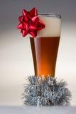 Μπύρα Χριστουγέννων Στοκ Φωτογραφίες