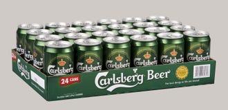 Μπύρα Carlsberg Στοκ φωτογραφία με δικαίωμα ελεύθερης χρήσης