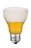 μπύρα lightbulb Στοκ φωτογραφία με δικαίωμα ελεύθερης χρήσης